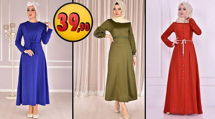 ModaMerve 39,90 TL Günlük Tesettür Elbise Modelleri 5 [2021 OCAK]   Modamerve Elbise Modelleri 2021