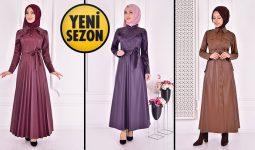 ModaMerve Deri Tesettür Elbise Modelleri 2 [2021 Kış] | The Most Fashionable Hijab Leather Dress