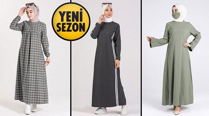 Sefamerve 39,90 TL Günlük Tesettür Elbise Modelleri 1 [2021 OCAK]   Sefamerve Elbise Modelleri 2021
