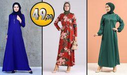 Sefamerve 49,90 TL Günlük Tesettür Elbise Modelleri 1 [2021 OCAK] | Sefamerve Elbise Modelleri 2021