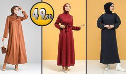 Sefamerve 49,90 TL Günlük Tesettür Elbise Modelleri 2 [2021 OCAK] | Sefamerve Elbise Modelleri 2021