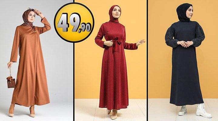 Sefamerve 49,90 TL Günlük Tesettür Elbise Modelleri 2 [2021 OCAK]   Sefamerve Elbise Modelleri 2021