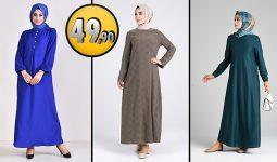 Sefamerve 49,90 TL Günlük Tesettür Elbise Modelleri 3 [2021 ŞUBAT] | Sefamerve Elbise Modelleri 2021
