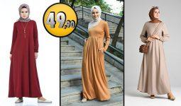 Sefamerve 49,90 TL Günlük Tesettür Elbise Modelleri 4 [2021 ŞUBAT] | Sefamerve Elbise Modelleri 2021