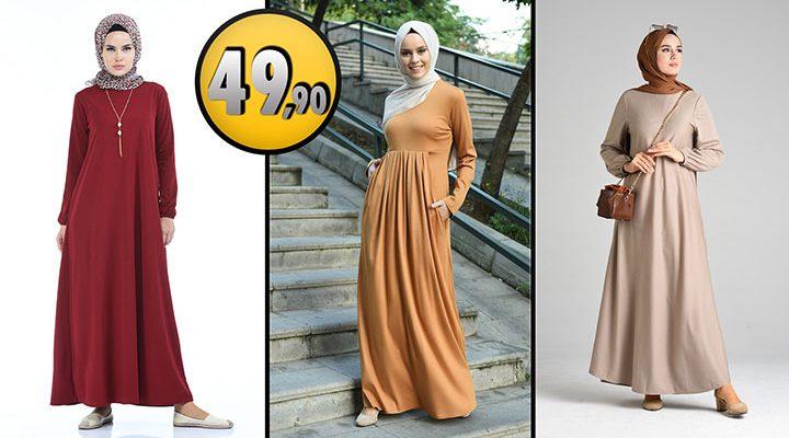 Sefamerve 49,90 TL Günlük Tesettür Elbise Modelleri 4 [2021 ŞUBAT]   Sefamerve Elbise Modelleri 2021
