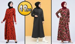 Sefamerve 49,90 TL Günlük Tesettür Elbise Modelleri 5 [2021 ŞUBAT] | Sefamerve Elbise Modelleri 2021