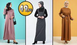 Sefamerve 49,90 TL Günlük Tesettür Elbise Modelleri 6 [2021 ŞUBAT] | Sefamerve Elbise Modelleri 2021