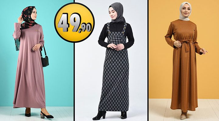 Sefamerve 49,90 TL Günlük Tesettür Elbise Modelleri 6 [2021 ŞUBAT]   Sefamerve Elbise Modelleri 2021