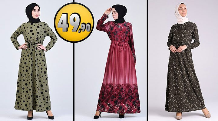 Sefamerve 49,90 TL Günlük Tesettür Elbise Modelleri 7 [2021 ŞUBAT] | Sefamerve Elbise Modelleri 2021