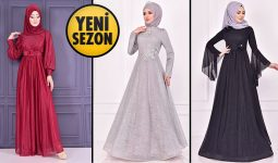 ModaMerve Simli Tesettür Elbise Modelleri 8 [2021 Kış] | Yeni Sezon Simli Elbise Modelleri 2021