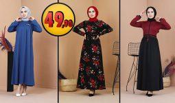 Eliza Moda 49,90 TL Günlük Tesettür Elbise Modelleri 1 [2021 MART] | ElizaModa Elbise Modelleri 2021