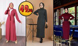 Eliza Moda 49,90 TL Günlük Tesettür Elbise Modelleri 2 [2021 MART] | ElizaModa Elbise Modelleri 2021