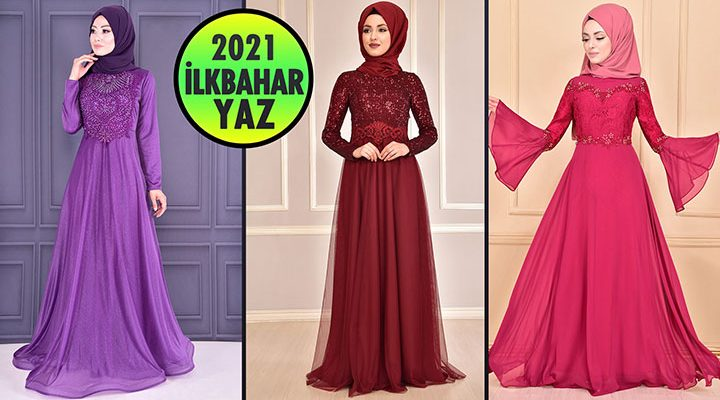 2021 İlkbahar ModaMerve Tesettür Abiye Elbise Modelleri 1 | Abendkleid - Evening Dress