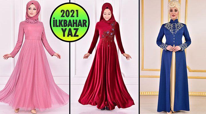 2021 İlkbahar ModaMerve Tesettür Abiye Elbise Modelleri 2 | Abendkleid - Evening Dress