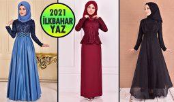 2021 İlkbahar ModaMerve Tesettür Abiye Elbise Modelleri 3 | Abendkleid - Evening Dress