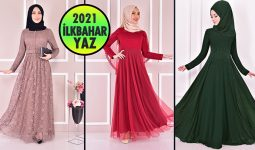 2021 İlkbahar ModaMerve Tesettür Abiye Elbise Modelleri 5   Abendkleid - Evening Dress