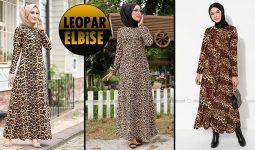 Leopar Elbise | 2021 Leopar Tesettür Elbise Modelleri 1