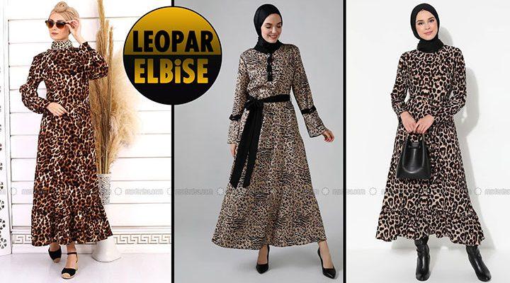Leopar Elbise | 2021 Leopar Tesettür Elbise Modelleri 2