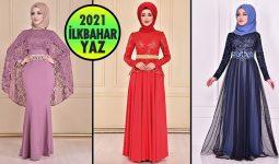 2021 İlkbahar ModaMerve Tesettür Abiye Elbise Modelleri 10 | Abendkleid - Evening Dress