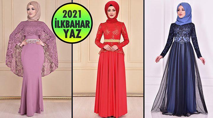2021 İlkbahar ModaMerve Tesettür Abiye Elbise Modelleri 10   Abendkleid - Evening Dress