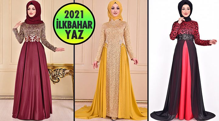 2021 İlkbahar ModaMerve Tesettür Abiye Elbise Modelleri 6 | Abendkleid - Evening Dress