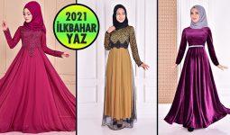 2021 İlkbahar ModaMerve Tesettür Abiye Elbise Modelleri 7   Abendkleid - Evening Dress