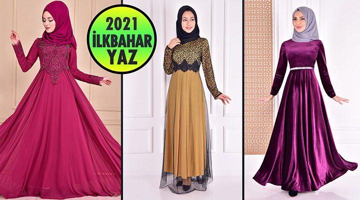2021 İlkbahar ModaMerve Tesettür Abiye Elbise Modelleri 7 | Abendkleid - Evening Dress