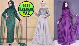 2021 İlkbahar ModaMerve Tesettür Abiye Elbise Modelleri 8 | Abendkleid - Evening Dress