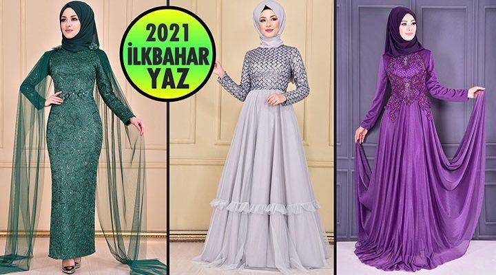 2021 İlkbahar ModaMerve Tesettür Abiye Elbise Modelleri 8   Abendkleid - Evening Dress