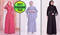 2021 İlkbahar ModaMerve Tesettür Abiye Elbise Modelleri 9 | Abendkleid - Evening Dress
