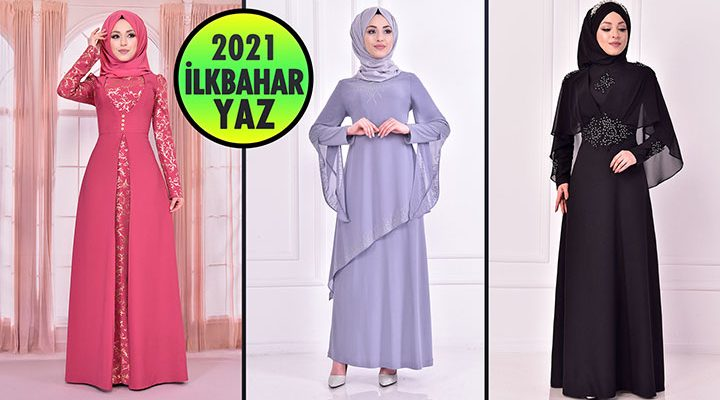 2021 İlkbahar ModaMerve Tesettür Abiye Elbise Modelleri 9   Abendkleid - Evening Dress