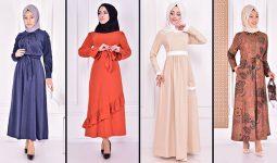 Yazlık Günlük Tesettür Elbise Modelleri 2 ( Moda Merve Tesettür Elbise Modelleri 2021)