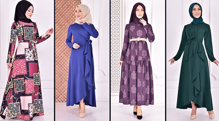 Yazlık Günlük Tesettür Elbise Modelleri 3 ( Moda Merve Tesettür Elbise Modelleri 2021)
