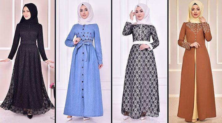 Yazlık Günlük Tesettür Elbise Modelleri 5 ( Moda Merve Tesettür Elbise Modelleri 2021)