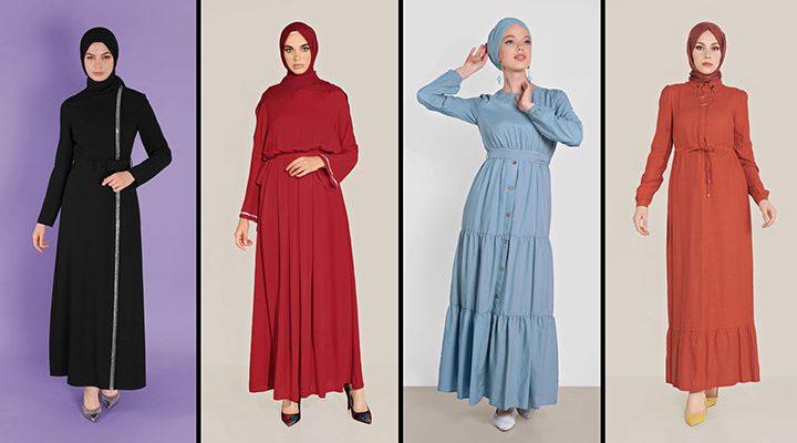 Alvina Günlük Tesettür Elbise Modelleri 7 (2021 İlkbahar & Yaz)   Trend Tesettür Elbise Modelleri
