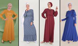 Alvina Günlük Tesettür Elbise Modelleri 9 (2021 İlkbahar & Yaz) | Trend Tesettür Elbise Modelleri