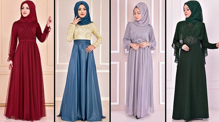 2021 ModaMerve Tesettür Abiye Modelleri 14 | Hijab Abendkleid - Evening Dress of 2021 Summer