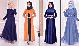 Yazlık Günlük Tesettür Elbise Modelleri 10 ( Moda Merve Tesettür Elbise Modelleri 2021)