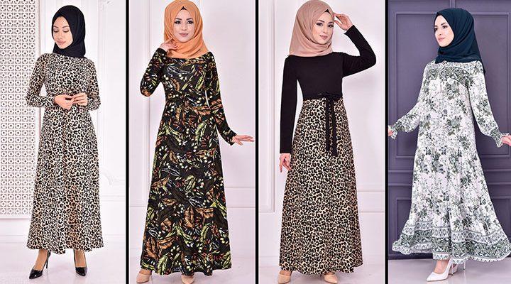 Yazlık Günlük Tesettür Elbise Modelleri 8 ( Moda Merve Tesettür Elbise Modelleri 2021)
