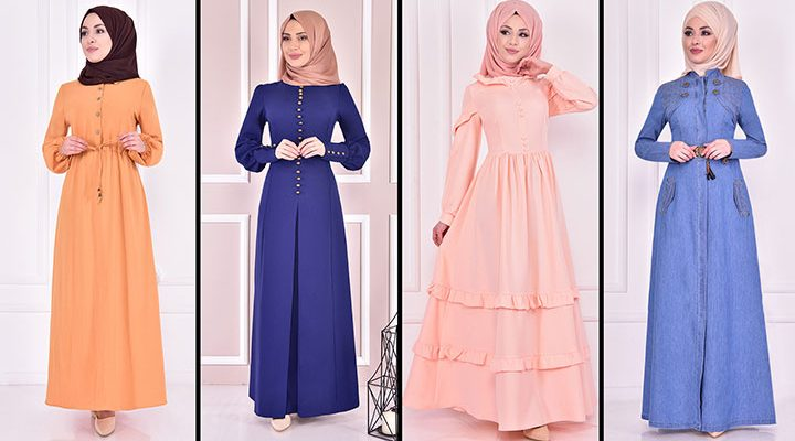 Yazlık Günlük Tesettür Elbise Modelleri 9 ( Moda Merve Tesettür Elbise Modelleri 2021)