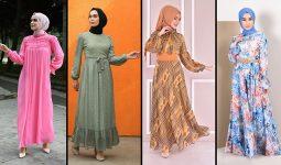 2021 Şifon Tesettür Elbise Modelleri 1 | The Most Fashionable Chiffon Dresses of 2021