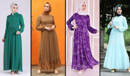 2021 Şifon Tesettür Elbise Modelleri 4 | The Most Fashionable Chiffon Dresses of 2021