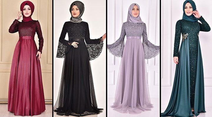 2021 ModaMerve Tesettür Abiye Modelleri 16 | Düğüne Giyecek Tesettür Elbiseler 2021