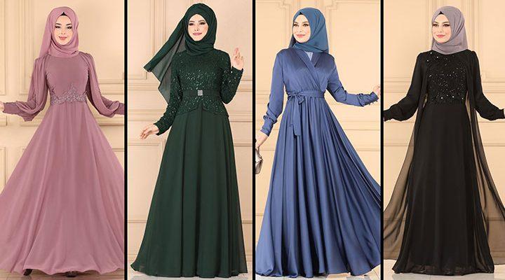 ModaSelvim Büyük Beden Tesettür Abiye Elbise Modelleri 1 (2021)   Evening Dress - Abendkleid