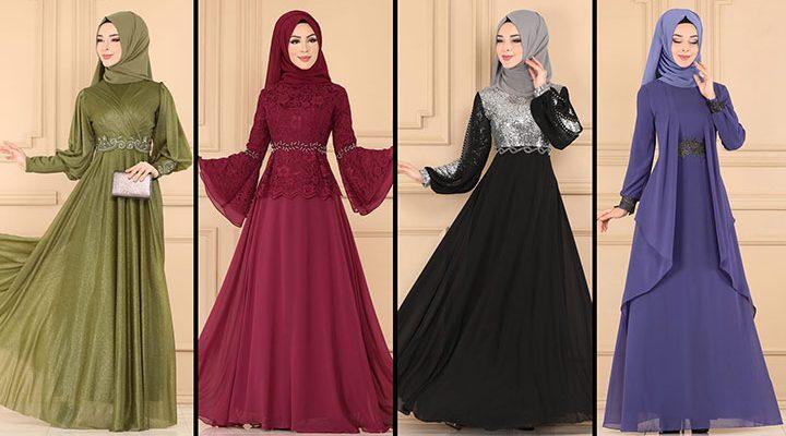ModaSelvim Büyük Beden Tesettür Abiye Elbise Modelleri 2 (2021)   Evening Dress - Abendkleid