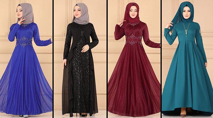 ModaSelvim Büyük Beden Tesettür Abiye Elbise Modelleri 4 (2021)   Evening Dress - Abendkleid