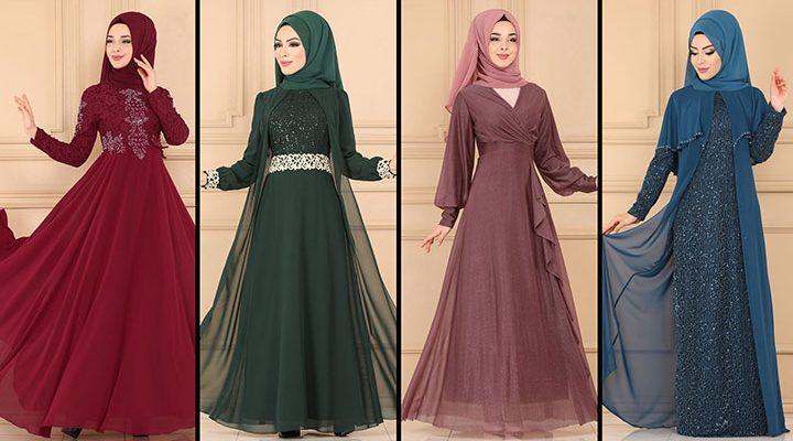 ModaSelvim Büyük Beden Tesettür Abiye Elbise Modelleri 5 (2021)   Evening Dress - Abendkleid