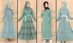 ModaSelvim Mint Tesettür Elbiseler (2021 Sonbahar) | Fall Outfits - Wedding Dresses - Plus Size