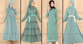 ModaSelvim Mint Tesettür Elbiseler (2021 Sonbahar)   Fall Outfits - Wedding Dresses - Plus Size