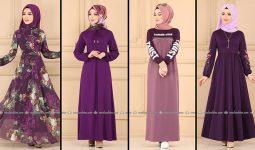 ModaSelvim Mor Tesettür Elbiseler (2021 Sonbahar) | Fall Outfits - Wedding Dresses - Plus Size